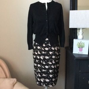 The Limited abstract houndstooth pencil skirt